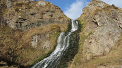 Waterfall St Cyrus Nature Reserve Scotland Stock Footage