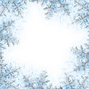 snowflake decorative frame - stock photo