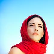 Beautiful arabic woman Stock Photos