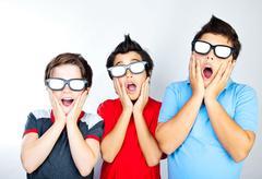 boys having fun - stock photo