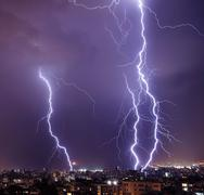 Stock Photo of lightning in the city