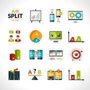 A-b Testing Icons - stock illustration