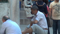 Ablution Before Pray Istanbul Stock Footage