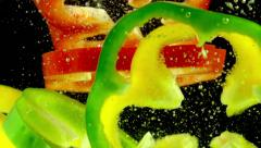Multicolored Peppers Stock Footage