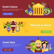 Greece banner set Piirros