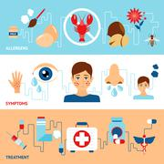 Allergy Banner Set Stock Illustration