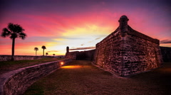 St. augustine, florida fort Stock Footage