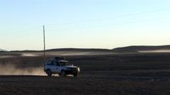 Jeep tour bolivia altiplano Stock Footage