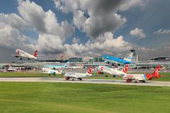 Prague airport Stock Photos
