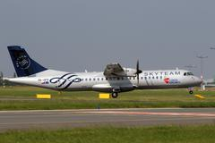 Csa czech airlines in sky team livery Stock Photos