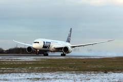 Lot polish airlines Stock Photos
