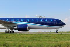 Azerbaijan airlines Stock Photos