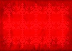 Red christmas grunge snowflake background Piirros