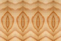Stock Illustration of wood grain repeating leaf pattern