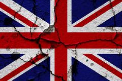 Union flag on a cracked wall Stock Illustration