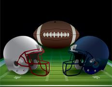 Stock Illustration of american football bowl game illustration
