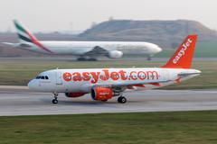 easyjet airline - stock photo