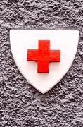 Red cross medical sign Stock Photos