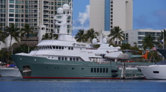 Mega Yacht Luxury Ship - Karima Stock Footage