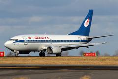 belavia belarusian airlines - stock photo