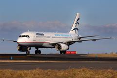 Aegean airlines Stock Photos
