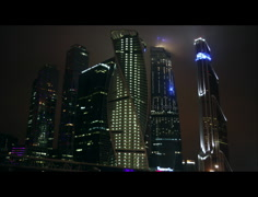 Matrix skyscrapers in Moscow 3K Stock Footage