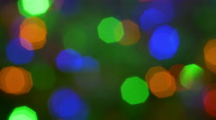 The flare and bokeh abstract varicolored backgrond. 4K footage Stock Footage