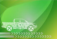 concept, symbolizing the car as a mechanism - stock illustration