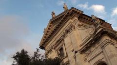 Church of Santa Francesca Romana Stock Footage