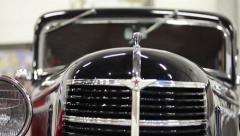retro car motor show - stock footage