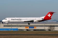helvetic airways - stock photo