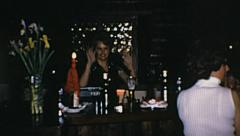 Grindelwald 1970: people having fun in a night club Stock Footage