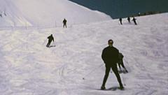 Grindelwald 1970: ski slope Stock Footage