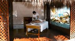 Spa treatment massage Stock Footage
