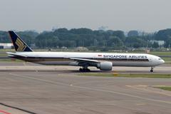 singapore airlines - stock photo