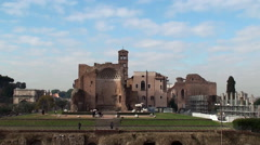 Temple of Venus and Roma at the Roman Forum Stock Footage