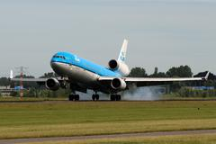 Klm - royal dutch airlines Stock Photos
