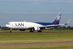 Lan airlines cargo Stock Photos
