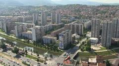 Sarajevo Aerial Stock Footage