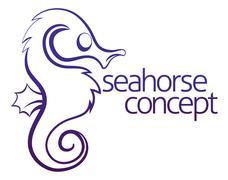 Seahorse concept Stock Illustration