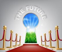 The future conceptual illustration Stock Illustration