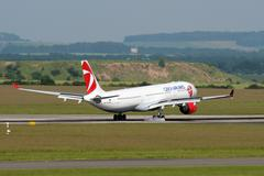 Czech airlines Stock Photos