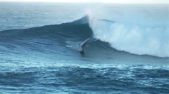 Surfing on the Hawaiin North Shore Stock Footage