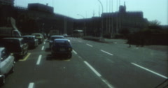 Toyko 70s 16mm Traffic Cars  Street Outside Stock Footage
