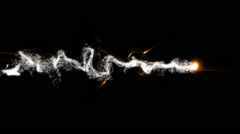 Light Particles wave animation illustration Stock Footage