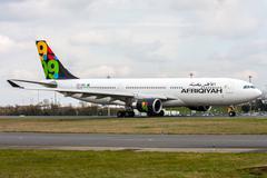 afriqiyah airways - stock photo