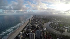 View From Tower to Gold Coast  City Australia 4K GoPro Stock Footage