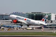 Holidays czech airlines Stock Photos