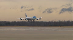 Air Force One Landing Winter Stock Footage