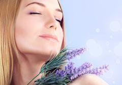 lavender spa aromatherapy - stock photo